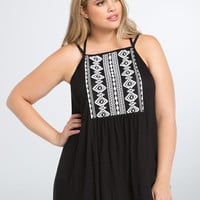 Faux Embroidered Tank Top