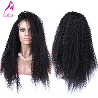 7A Glueless Full Lace Human Hair Wigs Brazilian Kinky Curly Front Lace Wigs