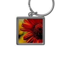 Detail of a Red Flower Key Chain