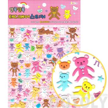 Super Big Colorful Teddy Bears Shaped Spongy Stickers for Scrapbooking