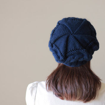 Knit Hat Womens Hat, Knit Hat Women, Navy Blue Winter Hat Woman Woman Hat Knit, Knit Hat woman, Knit Hats For Women