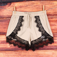 Ivory and Lace Shorts