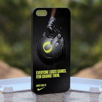 Nike Just Do It Football, Print on Hard Cover iPhone 5 Black Case