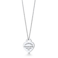 Tiffany & Co. -  Return to Tiffany™ heart tag pendant in sterling silver, small.