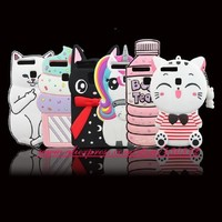 For Huawei Ascend P9 / P9 Lite HOT 3D Silicon Stitch Sulley Tigger Minnie Cupcake Cartoon Soft Cell Phone Back Skin Cover Case