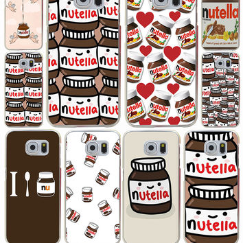 Kawaii nutella Hard Transparent Case Cover for Galaxy S3 S4 S5 & Mini S6 S7 Edge Plus Case Cover
