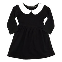 Wednesday sleeved girls cotton dress
