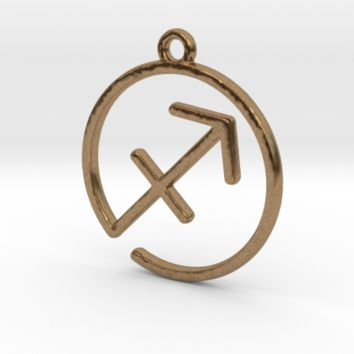 Sagittarius Zodiac Pendant by Jilub on Shapeways