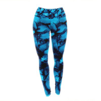 "Claire Day ""Teal"" Aqua Yoga Leggings"