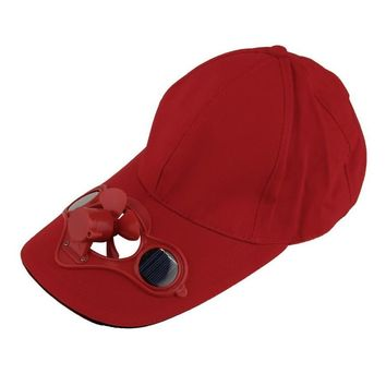 Sum Sport Outdoor Hat Cap with Solar Sun Power Cool Fan