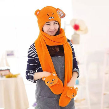 Bedroom Hot Deal On Sale Hats Scarf Gloves Anime Bedding Set [9052998604]