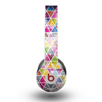 The Colorful Abstract Stacked Triangles Skin for the Beats by Dre Original Solo-Solo HD Headphones