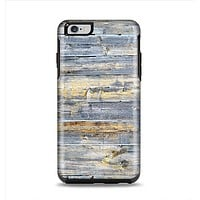 The Vintage Wooden Planks with Yellow Paint Apple iPhone 6 Plus Otterbox Symmetry Case Skin Set