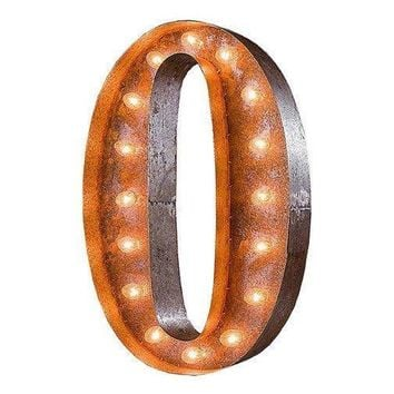 "36"" Number 0 (Zero) Sign Vintage Marquee Lights"