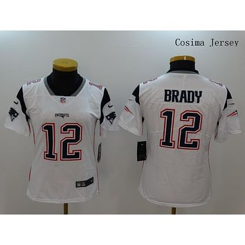 Danny Online Nike NFL Jersey Women's Vapor Untouchable Color Rush New England Patriots #12 Tom Brady Football Jersey White