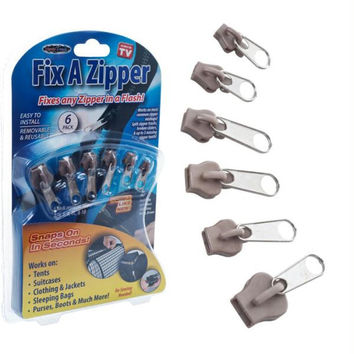 Fix A Zipper 6 Pack - Gold - As Seen on TV