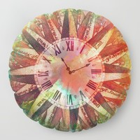 Synchronicity 11:11 Clock Face Time Design Floor Pillow by inspiredimages