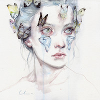 love and sacrifice Art Print by Agnes-cecile