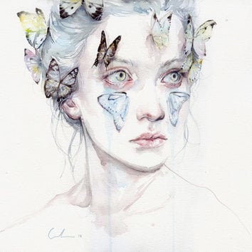 love and sacrifice Stretched Canvas by Agnes-cecile
