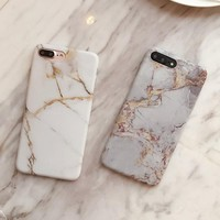 Simple Crack Marble TPU Phone Cases for iPhone X 7 8 8 Plus 6 6s
