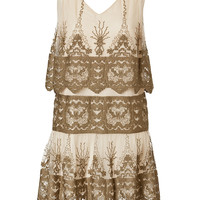 Anna Sui - Tiered Embroidered Mini-Dress