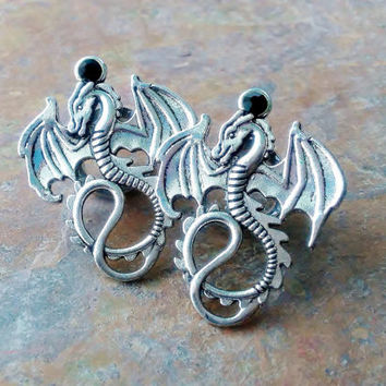 Dragon Tunnel Ear Plugs, Gauges, 6mm, 8mm, 10mm, 12mm, 14mm, 16mm, Body Piercing Jewelry