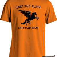 Camp Half Blood T Shirt Percy Jackson Movie Shirt Long Island Sound Greek Demi God Youth Men's Tee MD-144