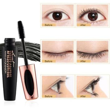 1PC New Long Curling mascara Makeup Eyelash Black Waterproof Fiber Mascara Eye Lashes makeup 4d silk fiber lash mascara