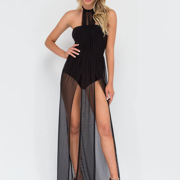 Blown Away Sheer Slit Maxi