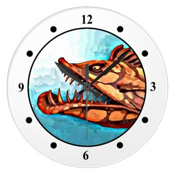 """Sammy"" Fish With Attitude by Mike Quinn Wall Clocks"