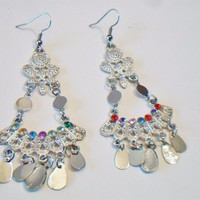 eBlueJay: Colorful Chandelier Earrings Silver Tone Gypsy Boho Costume Fashion Jewelry