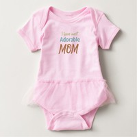 Mothers day special- Adorable Mother design Baby Bodysuit