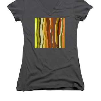 Ooh, You Are Awful ... But I Like You, Abstract Art By Adam Asar - Women's V-Neck (Athletic Fit)
