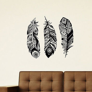 WALL DECAL VINYL STICKER BIRD PULMAGE HACKLE FEATHER SB677