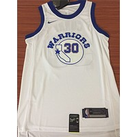 Golden State Warriors #30 Stephen Curry White Retro Basketball Jersey