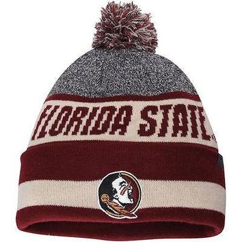 Florida State Seminoles Top of the World Cumulus Cuffed Knit Hat With Pom