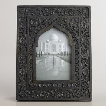 Black and Gold Wooden Taj Arch Frame - World Market