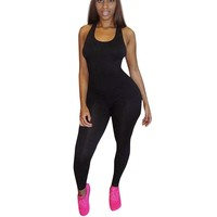 Casual Outfit For Women Sleeveless Slim Women Jumpsuit Summer Fitness One Piece Jumpsuit Sexy Rompers Women #1521