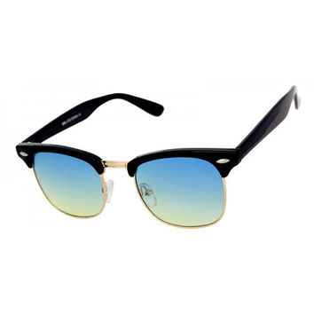 Blue Green Vintage Deadstock Clubmaster Sunglasses