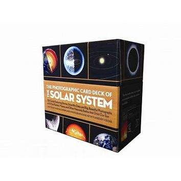 The Photographic Card Deck of The Solar System: 158 Cards Featuring Stories, Scientific Data, and Big Beautiful Photographs of the Planets, Moons, and Other Heavenly Bodies that Orbit Our Sun