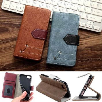 Luxury Retro Pouch For iphone 8 Plus SE 5s 6 6s 7 Samsung Galaxy S8 A3 A5 2017 Leather Cover Wallet Flip Phone Cases