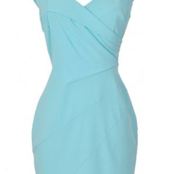 Lily Boutique Pale Blue Sheath Dress, Aqua Sheath Dress, Light Blue Sheath Dress, Pale Blue Work Dress Lily Boutique