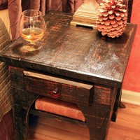 End Table / Night Stand Brandy Nights by natureinspiredcrafts