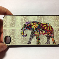 elephant iPhone 5c Case,ornate elephant iPhone 5c Hard Case,cover skin case for iphone 5S case,iPhone 5c case.phone cover.Eco Friendly