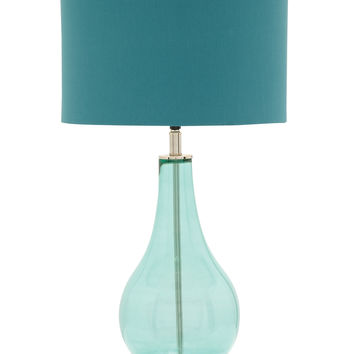 The Cool Blue Glass Chrome Table Lamp