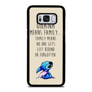 STITCH LILLO OHANA FAMILY QUOTES Samsung Galaxy S8 Case Cover