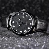 DCCK2 O011 Omega New Automatic Mechanical Leather Watchaband Watches Black
