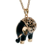 New Look Baroque Elephant Necklace at asos.com