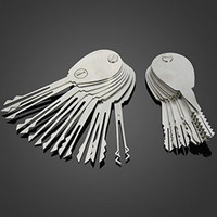 20psc Double Sided Padlock Picks Door Lock Opener Locksmith Tool (Size: 20, Color: White) = 1932109764