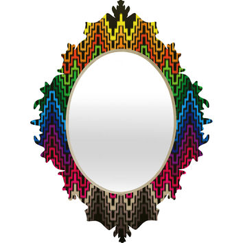 Raven Jumpo Rainbow Ikat Baroque Mirror